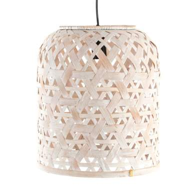 Cuye white bamboo lamp