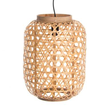 Dekol natural bamboo plaited lamp
