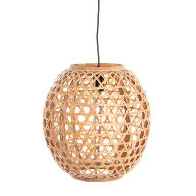 Loku natural bamboo plaited lamp