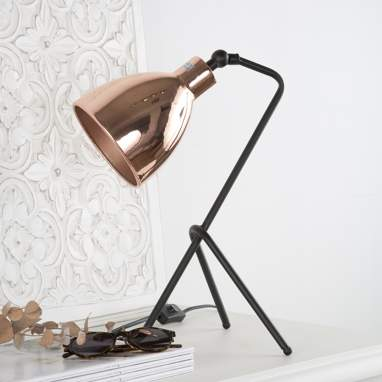 Fral copper metal table lamp