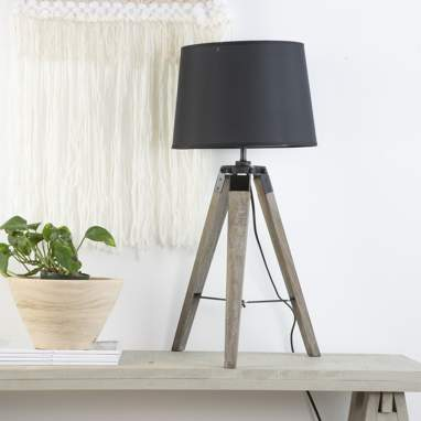 Opei wooden industrial table lamp