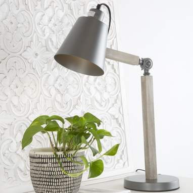 Lomi metal wooden table lamp