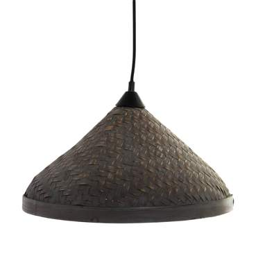 Mabe natural bamboo plaited lamp