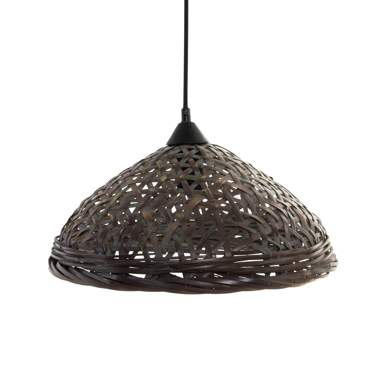 Spal natural plaited bamboo lamp