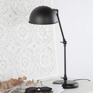 Nipos black metal table lamp
