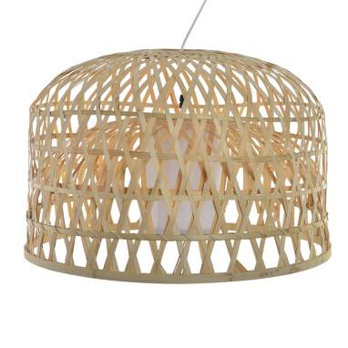 Pyle suspension bambou 52x52x35 tressé naturel