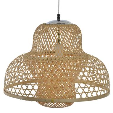 Latbu plaited bamboo lamp