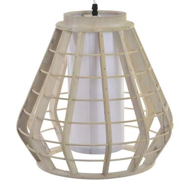 Viro  lampara techo madera 34x34x32 decape blanco