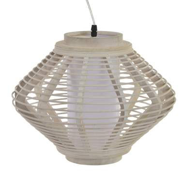 Inam white bamboo lamp