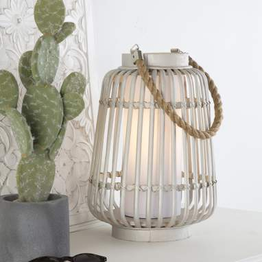 Kris natural bamboo rope table lamp