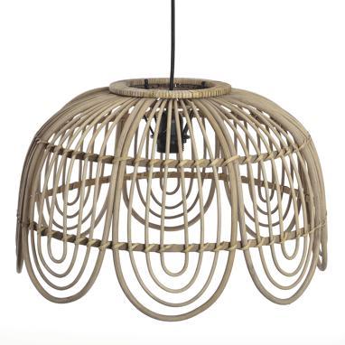 Ies  lampara techo bambu 44,5x27,5