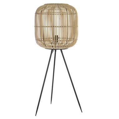 Awir lampe sur pied bambou