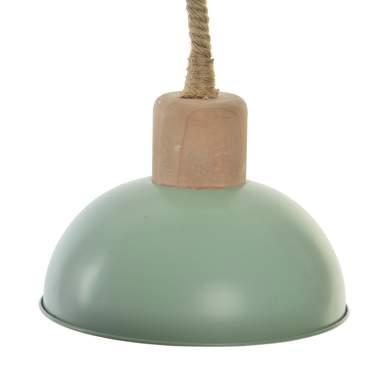 Ila candeeiro tecto metal/corda verde menta