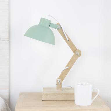Sack lampara sobremesa madera metal 15x32x33
