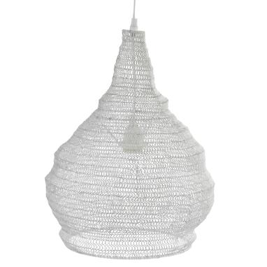 Taus white distressed metal lamp