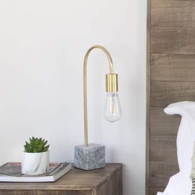 Nits marble metal table lamp