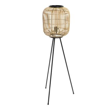 Eix metal-bamboo floor lamp