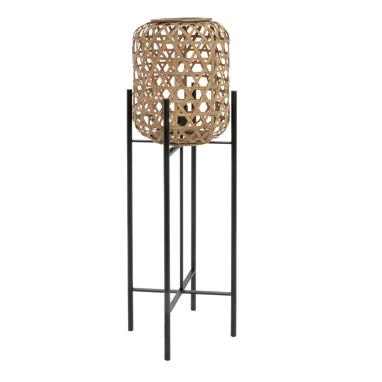 Naly metal ratan floor lamp