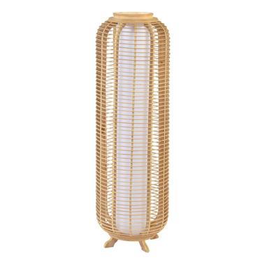 Neop brown bamboo floor lamp