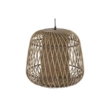 Trof brown wicker lamp