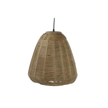 Visp brown ratan lamp