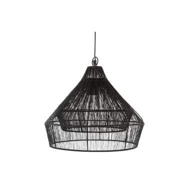 Wind lampara techo metal 38x33 negro