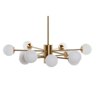 Aspa metal crystal 12 balls lamp