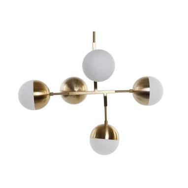 Aspy lampara techo metal cristal 74x52x1,68 e14 5 bolas