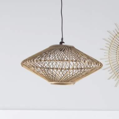 Colt lampara techo bambu 51x51x24 natural
