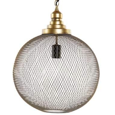 Glas lampara techo metal 39x39x50 60cm dorado
