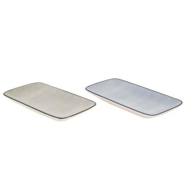 Klera stripes porcelain tray