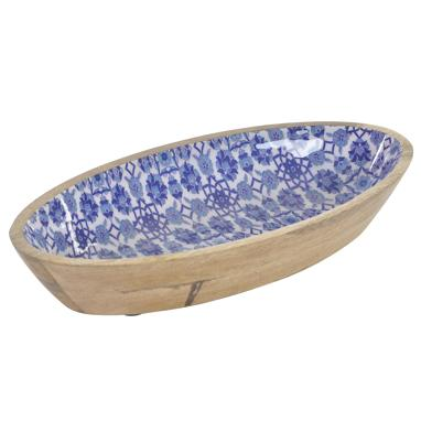 Mits blue ceramic tray