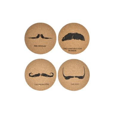 Miram set 4 natural cork coaster