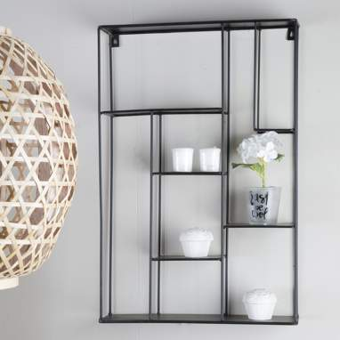 Irisi black wall shelf