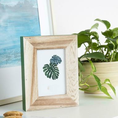 Olek moldura foto madeira vidro 10x15