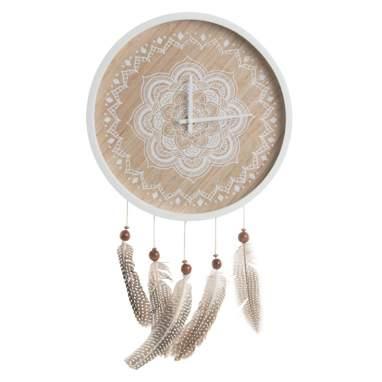 Sohr reloj pared madera plumas 29x3