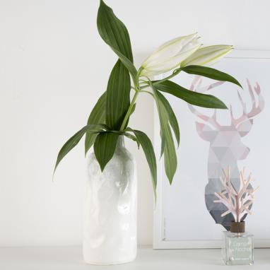Jyme vaso bianco porcellana brillante