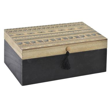 Saky black wooden box