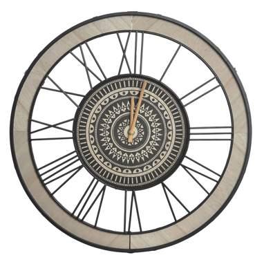 Novo orologio a muro legno-metallo nero