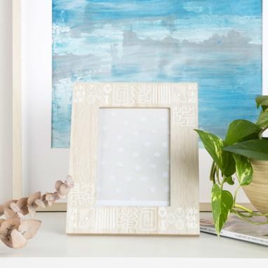 Rois white wooden glass photoframe 13x18