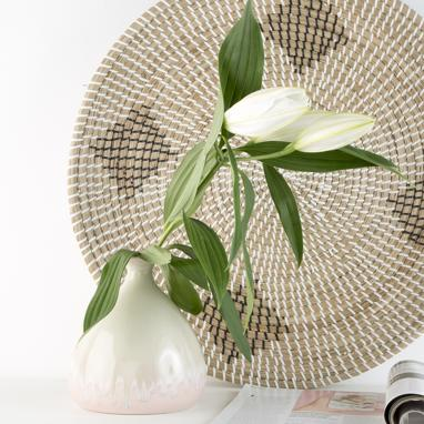 Neol vase céramique bicolore