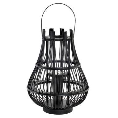 Dembe black bamboo candleholder