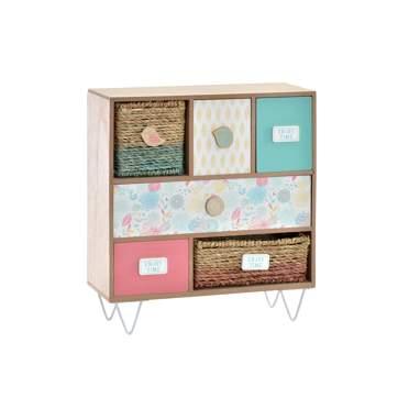 Elig boîte à bijoux 6 tiroirs multicolore