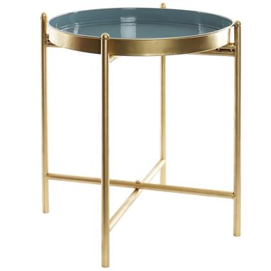 Diek blue metal auxiliary table