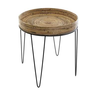 Taeko metal wicker auxiliary table