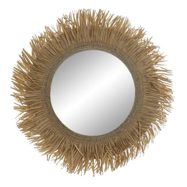 Nela natural fibre mirror 46x1x46