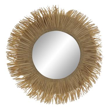 Nela natural fibre mirror 39x1x39