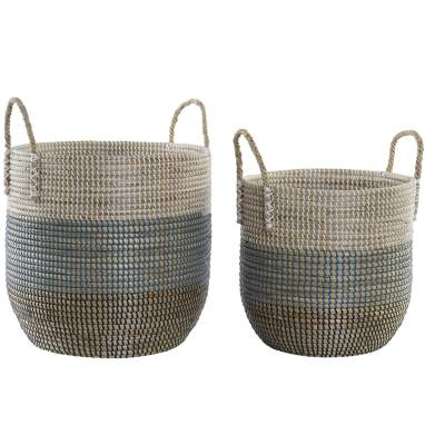 Sapy set 2 white fibre baskets