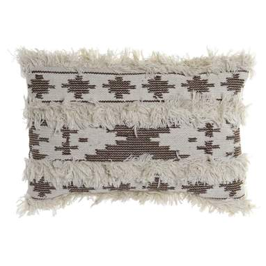 Army brown black cotton wool cushion