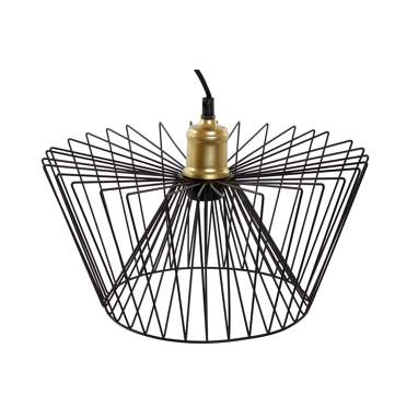 Wyrk lampara techo metal 35x35x17 negro